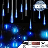 LED Meteor Shower Lights 50cm 10 Tube Icicle Lights 540 LED Xmas Lights for Xmas Wedding Party Holiday Garden - 50CM / Blue