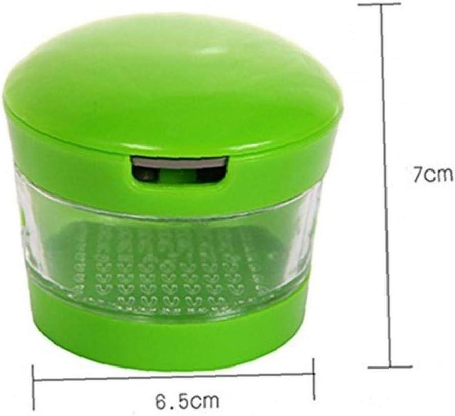 CULER Ail Grater Mini Portable ABS en Acier Inoxydable Presse-ail Chopper Slicer Moulin /à Main Broyeur de Cuisine Presser loutil
