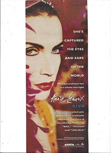 **PRINT AD** With Annie Lennox For 1992 Diva Album Promo**PRINT AD**