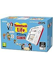 Nintendo 2DS Console + Tomodachi Life [Bundle], Bianco/Rosso