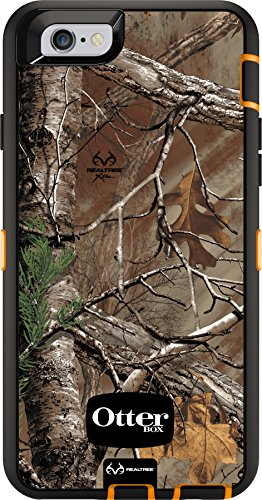Camouflage Black Silicone (OtterBox DEFENDER iPhone 6/6s Case - Frustration-Free Packaging - REALTREE XTRA (BLAZE ORANGE/BLACK W/XTRA CAMO))