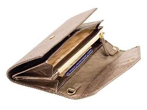 Braun Büffel Hollywood Damengeldbörse 54611-644-014 Silber Geldbeutel Metallic