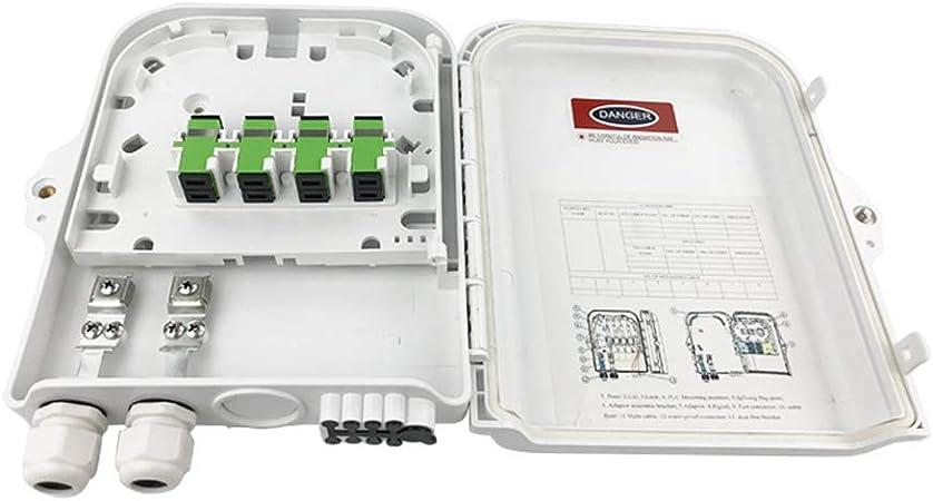 LYY Caja de distribución de Cable FTTH/Caja de Fibra, Puede sostener 8 núcleos 4 núcleos Material ABS diferencial, Adecuado para Interior y al Aire Libre Colgante de Pared y Poste: Amazon.es: Hogar