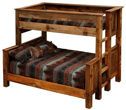 Barnwood Beds, Twin Over Queen   Barnwood Bunk Beds