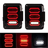 VOSICKY for jeep LED Tail Lamp Replacement Tail Lights Brake Reverse Lamps Turn Signal & Back Up USA version for 2007-2015 Jeep Wrangler JK