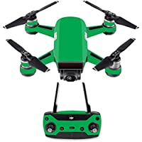 Skin for DJI Spark Mini Drone Combo - Solid Green| MightySkins Protective, Durable, and Unique Vinyl Decal wrap cover | Easy To Apply, Remove, and Change Styles | Made in the USA