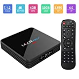 #4: Android TV Box, Superpow MXR Pro Plus Android 7.1 TV Box with 4GB RAM 32GB ROM RK3328 Quad-core, Support 4K Full HD Dual-Band Wi-Fi 2.4/5Ghz BT 4.0 Mini Box with Remote Control