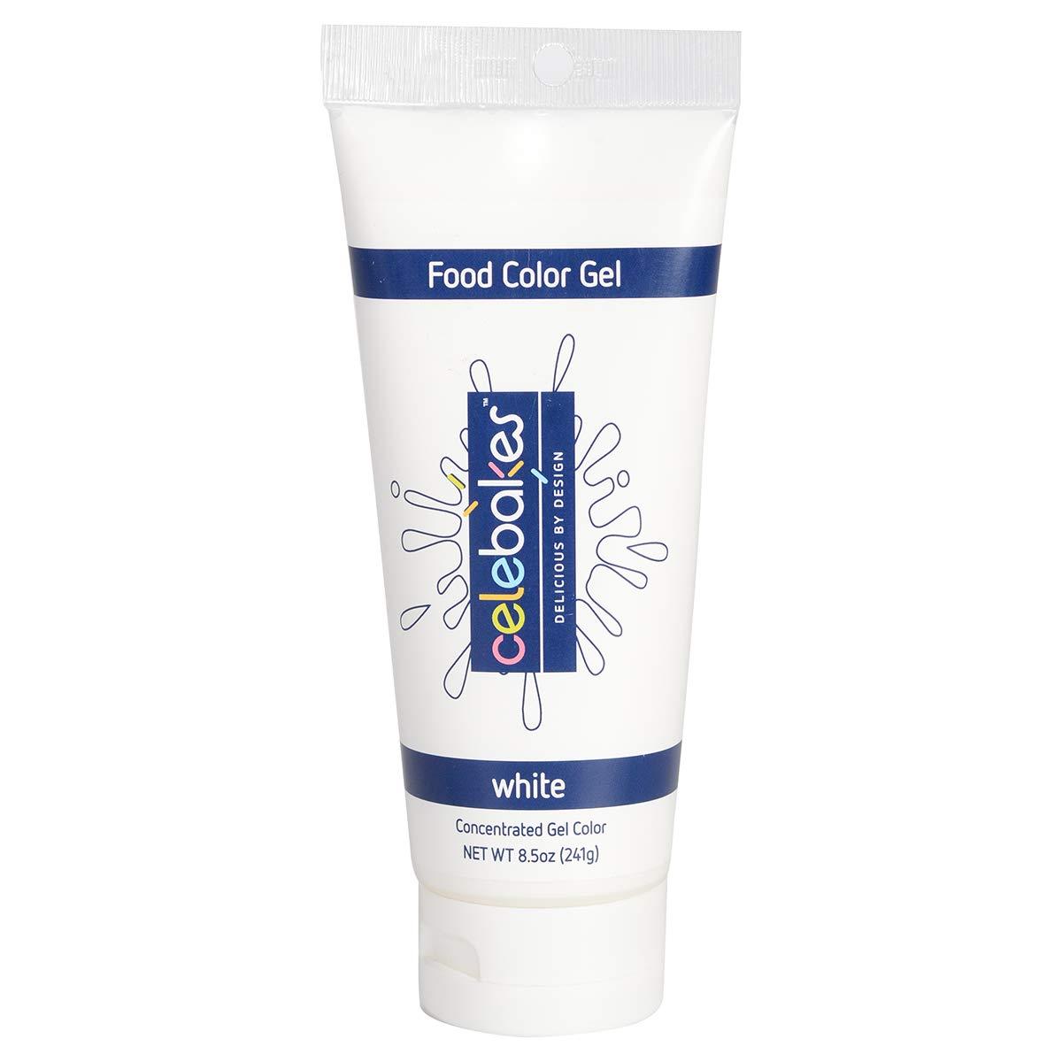Celebakes Food Color Gel, White, 8.5oz Tube