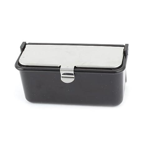 R TOOGOO Cendrier Cendrier d/¡/¯auto en plastique noir en forme de rectangle avec LED bleu