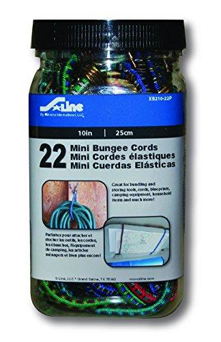S-Line XB210-22P Mini Bungee Cords 10-Inch, 22-Piece -