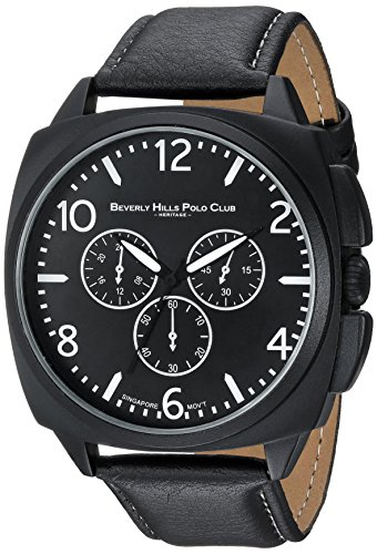 us-beverly-hills-polo-club-mens-quartz-metal-and-polyurethane-casual-watch-colorblack-model-53507
