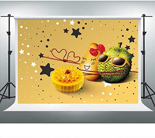 Food Banquet Backdrops for Birthday Party Photography 9x6FT Potato Durian Star Decoration Pattern Photo Backgrounds Party Wall Paper Room Mural Props BBHX68