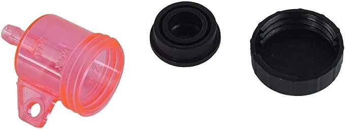 Couleur : Rouge Parties Parties 1 PCS Moto Frein Arri/ère Ma/ître Cylindre R/éservoir Huile Coupe Flacon R/éservoir Universel pour Yamaha Honda Suzuki Kawasaki