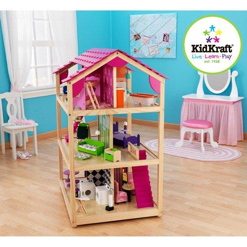 51ETr3jXXJL - KidKraft So Chic Dollhouse with Furniture