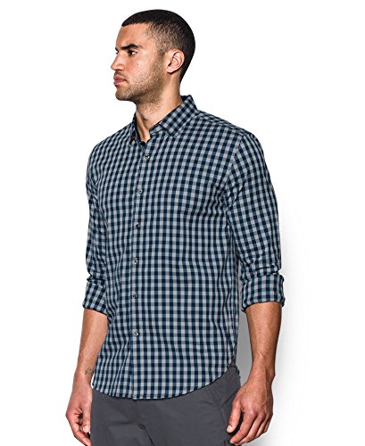 Under Armour Men's Performance Woven Shirt, Overcast Gray/Academy, Small by Under Armour (Image #2)