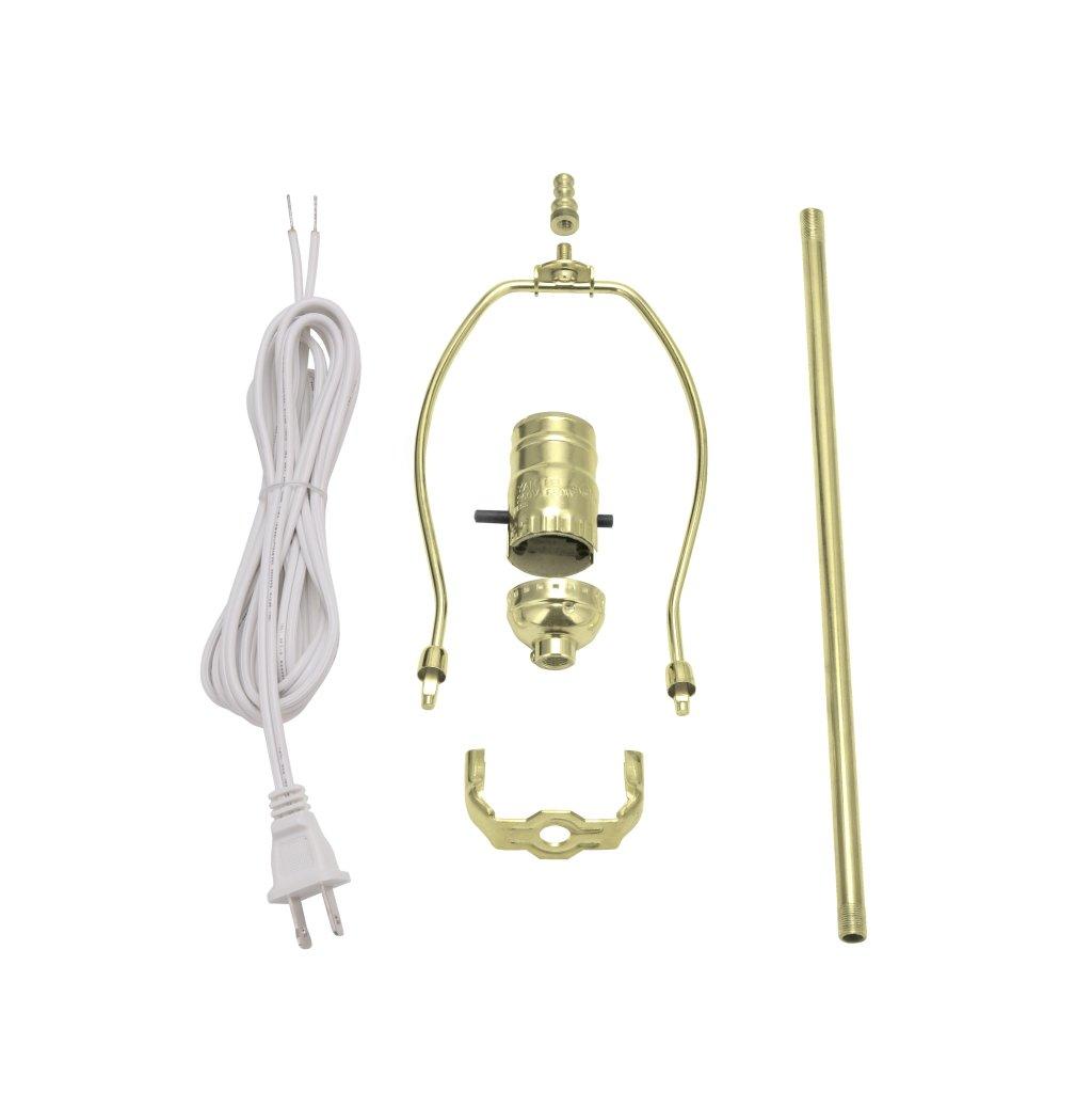 Aspen Creative 21024, Make-A-Lamp Kit in Brass, 1 Pack