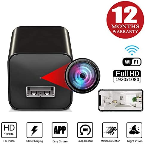 Spy Camera Charger – Hidden Camera – Spy Camera Wireless Hidden – WiFi Charger Spy Camera – Nanny Camera – Spy Camera 1080P HD Nanny Cam – with Motion Detection and Night Vision Spy Cam – Mini Cam