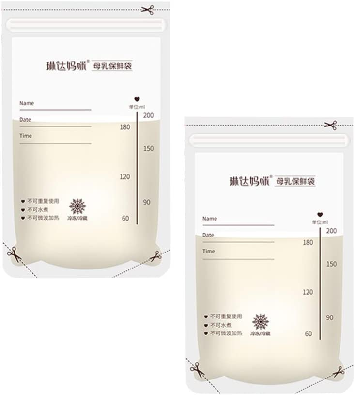 Artibetter 30pcs Breast Milk Storage Bags Breastfeeding Freezer Storage Container Bags for Breastfeeding Pumping 200ml