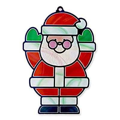 Melissa & Doug Stained Glass Made Easy Activity Kit, Santa & Tree (Arts and Crafts, Develops Problem Solving Skills, 50+ Stickers, Great Gift for Girls and Boys - Best for 5, 6, 7 Year Olds and Up): Toy: Toys & Games
