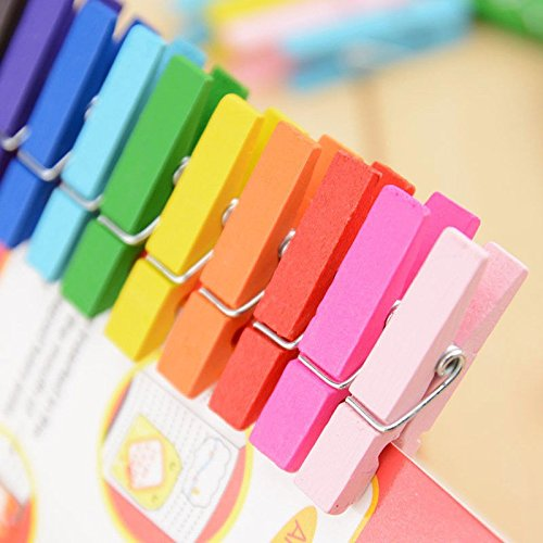 Money coming shop 20pcs Beautiful Design 35mm Mini Color Wooden Craft Pegs Clothes Paper Photo Hanging Spring Clips For Message Cards (Japanese Candy Making Kit Usa)