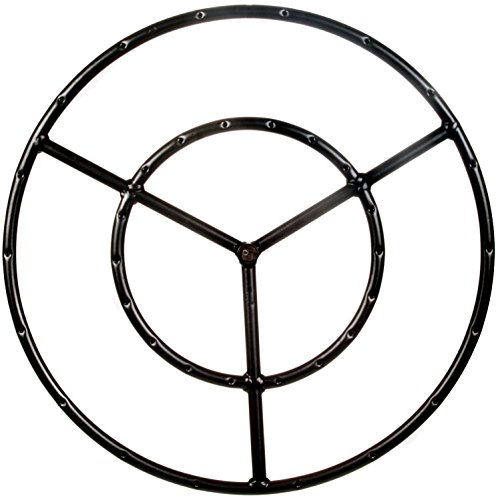 Alpine Flame 22-inch Round Double Natural Gas Fire Pit Ring Burner