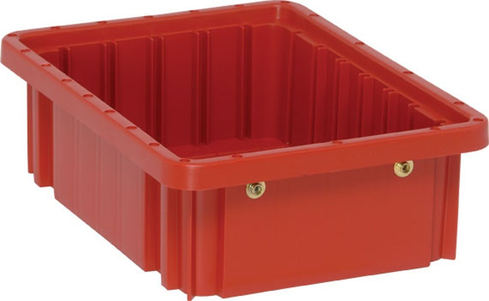 Quantum Storage Systems DG91035RD Dividable Grid Container 10-7/8-Inch Long by 8-1/4-Inch Wide by 3-1/2-Inch High, Red, 20-Pack