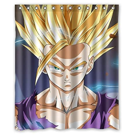Anime Cartoon Dragon Ball Z Goku Bathroom Fabric Bath Shower Curtain 60w X 72h Amazonca Sports Outdoors