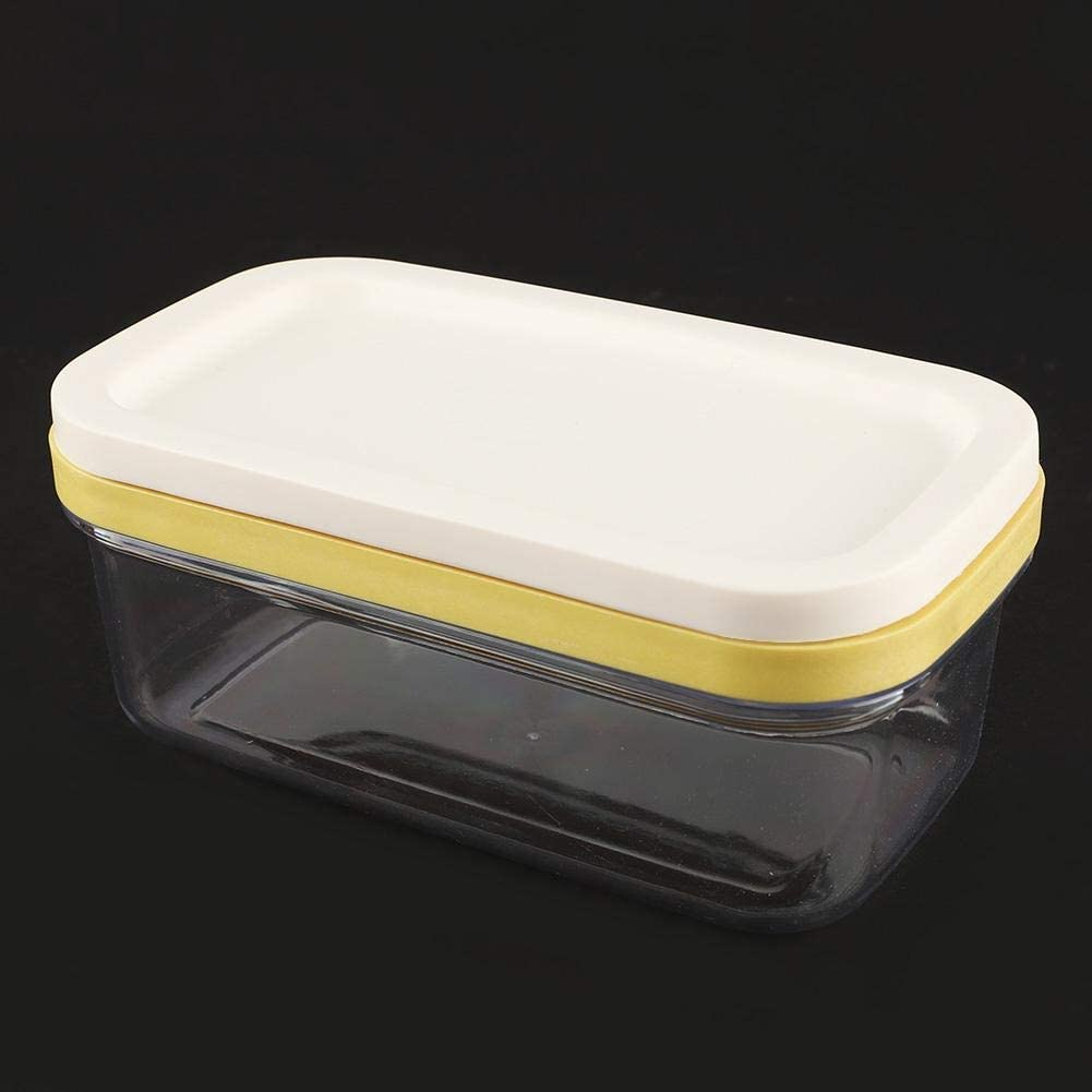 Eastbuy Plato de Mantequilla Caja de Mantequilla Guardi/án del Recipiente de Queso con la Cocina de la Caja de Almacenamiento de Alimentos de la Red de Corte