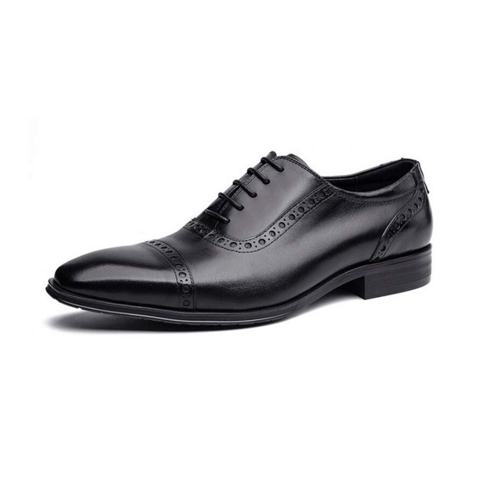 HhGold Formale Schuhe der Männer, Lederne Geschäfts-Kleid-Schuhe, Britische Art-Hochwertige Lederne Männer, Hochzeits-Schuhe, beiläufige Partei (Farbe   B, Größe   39) (Farbe   B, Größe   41)