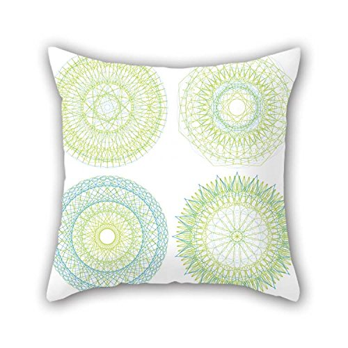 eyeselect 20 X 20 Inches / 50 by 50 cm Circle Pillow Covers Twin Sides is Fit for Bar Kids Wedding Study Room Lounge Gril Friend for Christmas