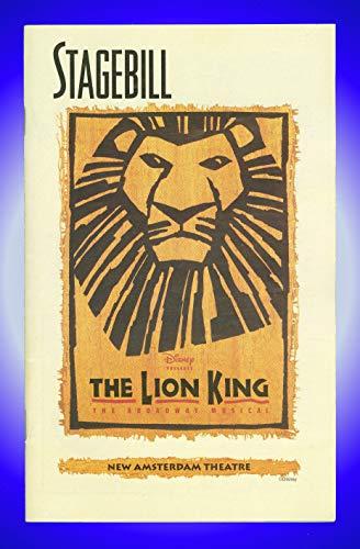 The Lion King, Broadway playbill + Heather Headley, John Vickery, Samuel E. Wright, Tracy Nicole Chapman, Kevin Cahoon