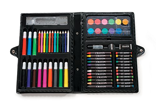 Gift Kids Box (Darice 68-Piece Art Set – Art Supplies for Drawing, Painting and More in a Plastic Case - Makes a Great Gift for Children and Adults)