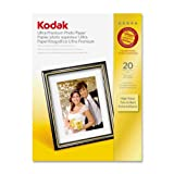 Kodak High-Gloss Ultra-Premium Photo Paper, 4 x 6 Inches, 20 Sheets per Pack (8777757)
