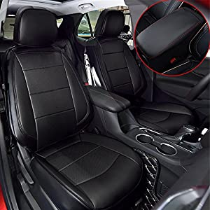 Kust zd31949w Chevrolet Car Seat Covers,Leather Seat Covers for Chevrolet Equinox 2018,Full Hemming Chevy Seat Covers for SUV Full Set with 1pc Armrest Box Cover, 4pcs Saddle Covers,4pcs Back Covers,5