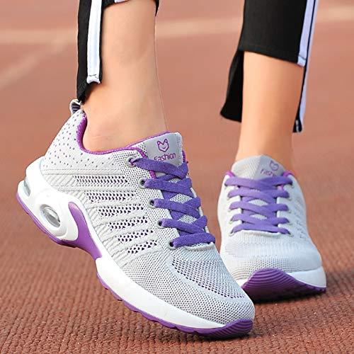 mesh traspirante misto Scarpe 36 passeggio da Scarpe Viola Colore donna EU da in Nero stringate Dimensione colore Fuxitoggo xqvHPf