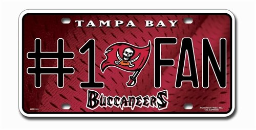 Tampa Bay Buccaneers License Plate #1 Fan