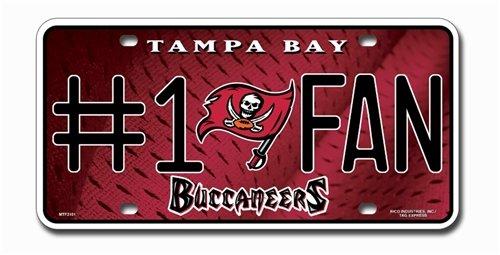 Tampa Bay Buccaneers License Plate - #1 Fan