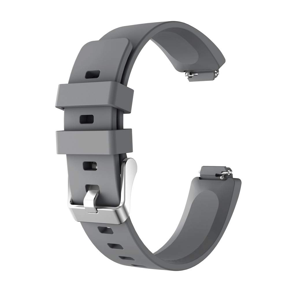 Clearance! For Fitbit Inspire/Fitbit Inspire HR,Sunfei New Fashion Sports Silicone Bracelet Strap Band (Gray)