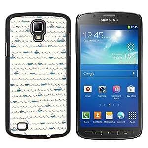 LECELL--Funda protectora / Cubierta / Piel For Samsung Galaxy S4 Active i9295 -- Patrón Scribble minimalista Líneas de barcos --