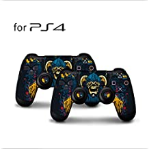 Skins for PS4 Controller - Decals for Playstation 4 Games - Stickers Cover for PS4 Slim Sony Play Station Four Controllers Pro PS4 Accessories PS4 Remote Wireless Dualshock 4 (2)
