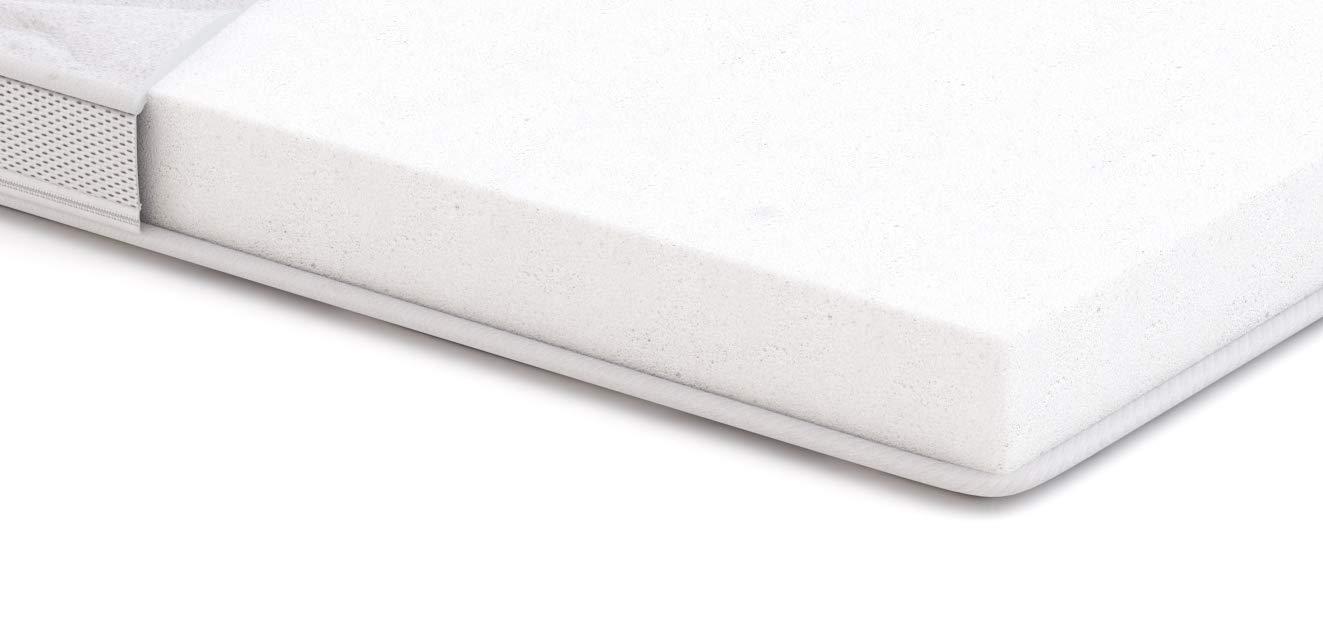in schiuma ad alta resilienza Basics Topper per materasso morbido H2-80 x 190 x 6 cm