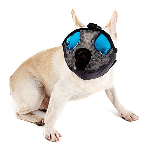 Bwogue Dog Muzzle with Adjustable Buckle-Anti Bark Bite Dog Mouth Mask for Short Nose - Flat Faced Dogs,Medium by Bwogue