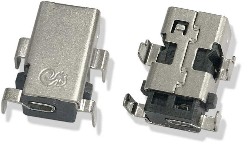 2pcs New DC Power Jack Charging Port Compatible with Acer Chromebook CB5-132T CB5-571 Laptop