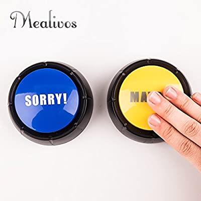 MyMealivos Set of 4 , The NO, YES, Sorry and Maybe Buttons: Toys & Games