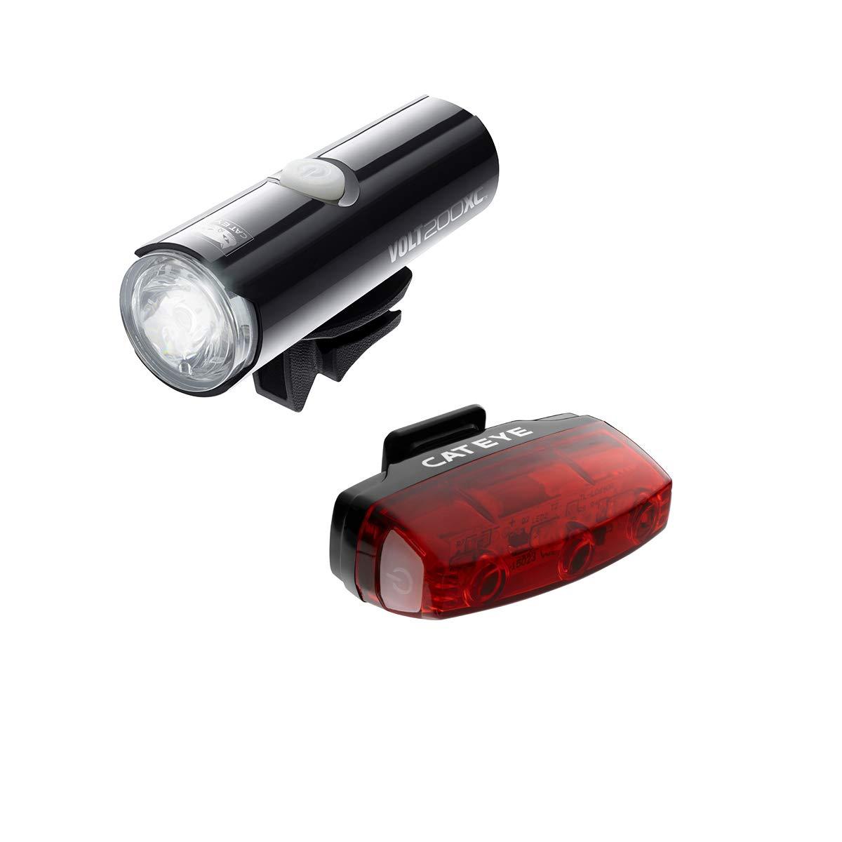 Cateye Volt 200 Xc/rapid Mini Rechargeable Light Set