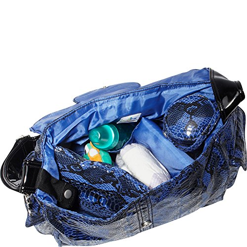 Kalencom Diaper Bag, Elite Python Black and White