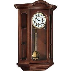 Hermle Osterley Mechanical Regulator Wall Clock - Walnut - Westminster Chime