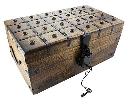 Wooden Pirate Treasure Chest Box 17