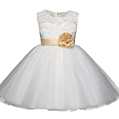 Huhua Ball Gown For Girls Kids Pageant Wedding Party Bridesmaid