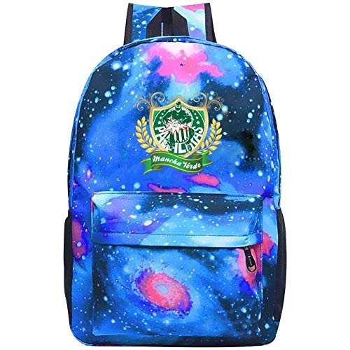 (xkba-beibao Waterproof Travel Laptop Backpack,Samba School Logo Leisure Backpack Hiking Night Light Backpack for Men and Women)